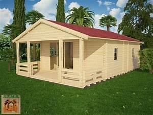 Chalet En Bois Habitable Livré Monté : chalet en kit mod le cognac 48 m avec terrasse couverte ~ Dailycaller-alerts.com Idées de Décoration