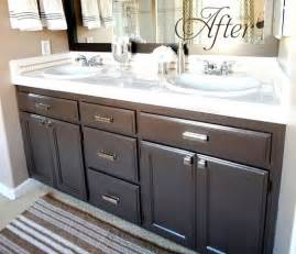 bathroom cabinets painting ideas budget bathroom makeover linky centsational