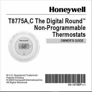 Honeywell T8775a C The Digital Round Non