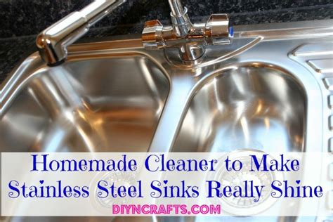 how to clean stainless steel kitchen sink homemade cleaner to make stainless steel sinks really