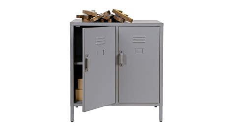 meuble bas metal meuble bas industriel en m 233 tal gris 2 portes 2 233 tag 232 res collection max homifab