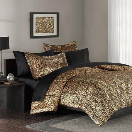 leopard print comforter set mainstays leopard print bedding comforter mini set