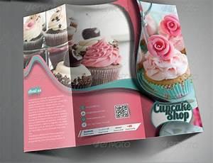 Two Fold Brochure 22 Bakery Brochures Psd Ai Indesign Vector Eps