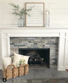 shiplap  fireplace rustic mantle  love  coffee table house ideas pinterest