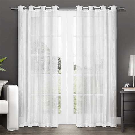 sheer curtain panels sheer curtain panels ease bedding with style
