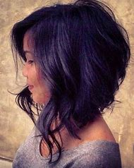 Medium Length Curly Asymmetrical Bob Haircut