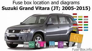 Fuse Box Location And Diagrams  Suzuki Grand Vitara  Jt  2005-2015