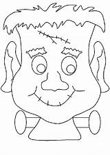 Coloring Halloween Monster Friendly Scary sketch template