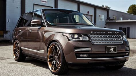 land rover brown dub magazine range rover vogue on pur wheels by sr auto