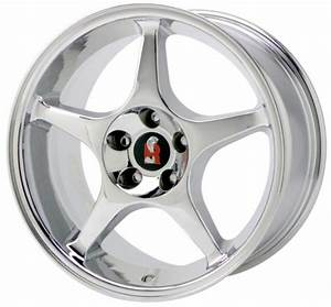 """2000 CHROME MUSTANG COBRA """"R"""" WHEEL 
