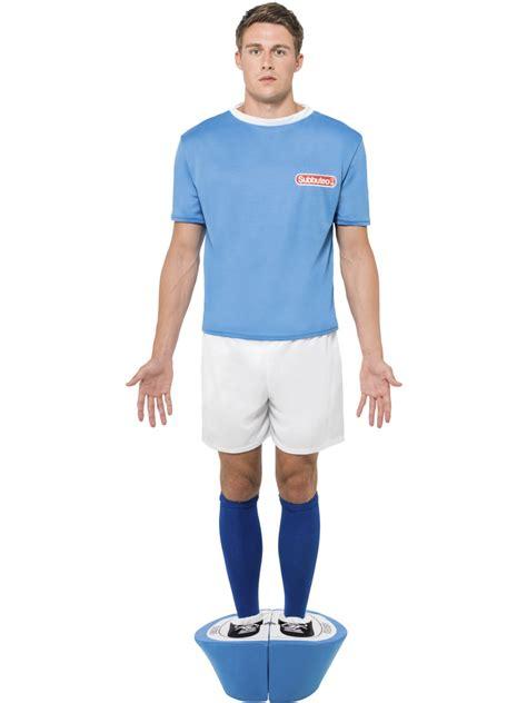 adult subbuteo blue strip costume  fancy dress ball