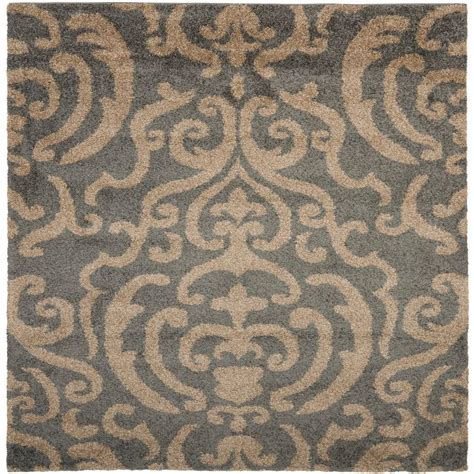 beige and grey area rugs safavieh florida shag gray beige 6 ft 7 in x 6 ft 7 in
