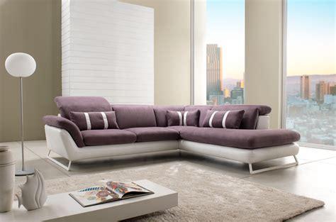 canape cuir et tissus design canapé d 39 angle design en cuir et tissu modèle oblo