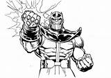 Thanos Coloring Pages Easy Avengers Printable Comic Children Marvel Print Super Hulk sketch template