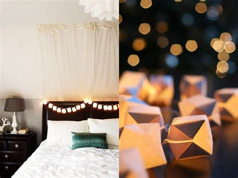 create your own origami cube string light decorations