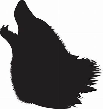 Wolf Silhouette Howling Head Clipart Clip Outline