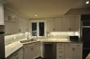 Led Lighting In Kitchen Cabinets by Rab Design S Led Lights Install For Cabinet