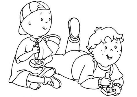 caillou coloring pages games coloring pages