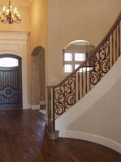 Iron Panels Wrought Stair Stairs Staircase Balusters