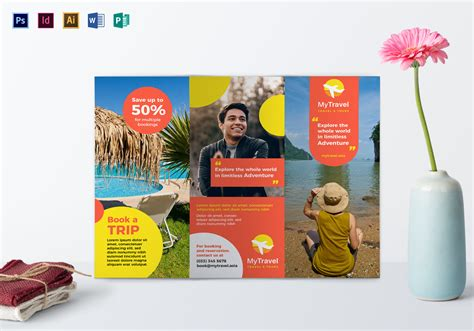 travel agency brochure design template  psd word
