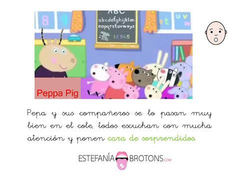 estimulacion del lenguaje oral  peppa pig