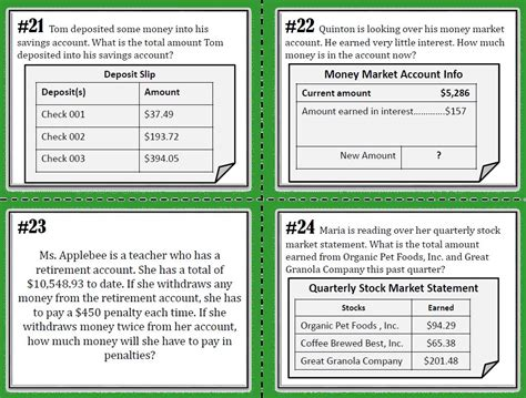 4th grade financial literacy worksheets worksheets for all