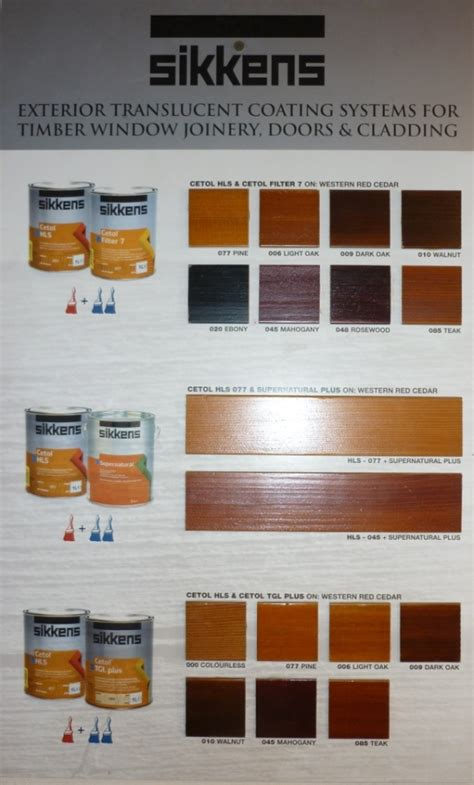 Sikkens Deck Stain Colors by Sikkens Cetol Srd Color Chart