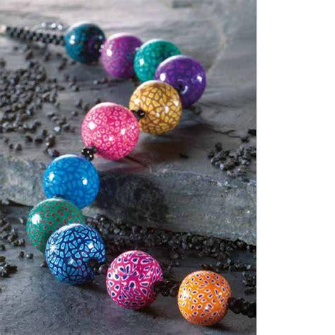 collier perles de canes en p 226 te fimo perles co