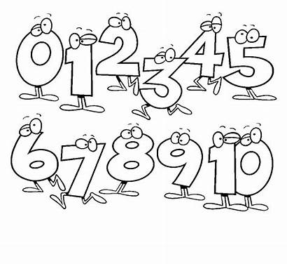 Coloring Pages Numbers Number Printable