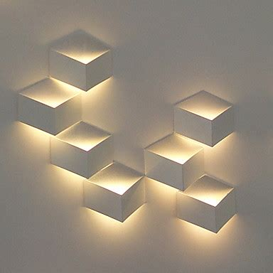 1w modern led wall light artistic cubic metal shade 1 pcs