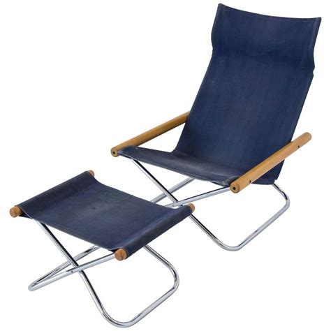 takeshi nii ny folding chair and ottoman at 1stdibs
