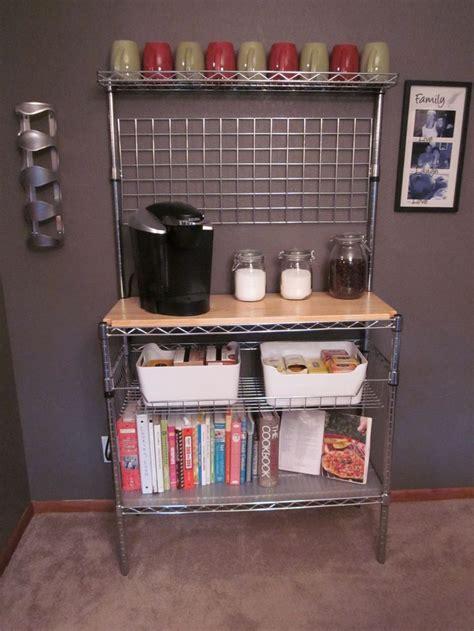 bakers rack turned coffee bar    cooler