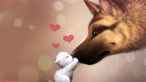 Cat And Dog Kissing Wallpapers HD / Desktop and Mobile ...