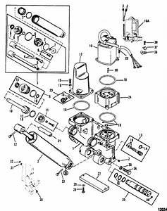 Mercury Marine 140 Hp Jet Power Trim Components Parts