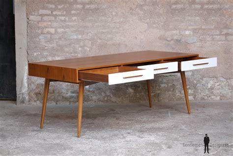 meuble de bureau sur mesure grand bureau ministre bois teck meuble style vintage
