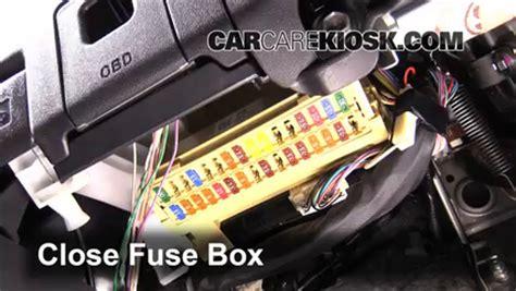 interior fuse box location   scion tc