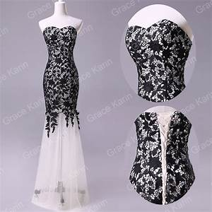 Black lace mermaid wedding bridesmaid evening dress prom for Black formal dress for wedding