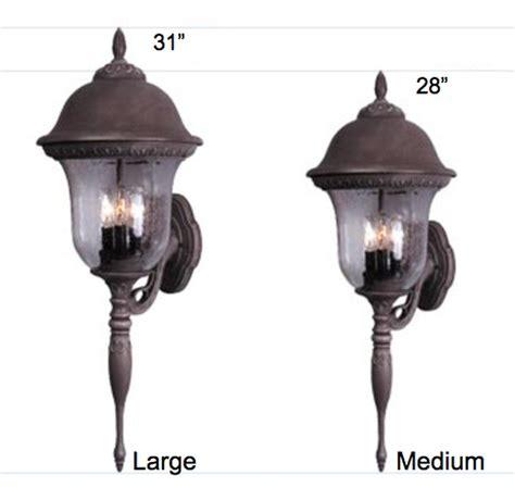 glenn aire large tri light post lantern set lighting fixture