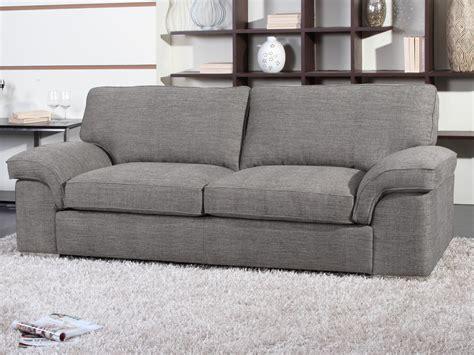 canapes tissu canapé fixe tissu quot shirley quot 3 places gris 54022 54025
