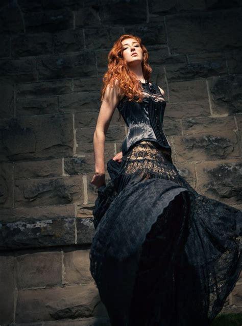 black wedding dresses  alternative brides misfit wedding