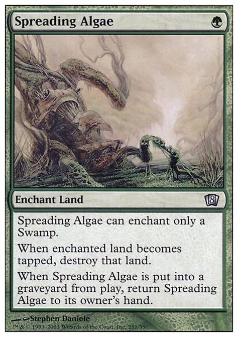 mtg modern decks tapped out spreading algae 8ed mtg card
