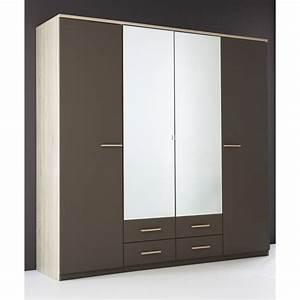 Armoire Penderie Rangement Moderne 4 Portes Panel Meuble