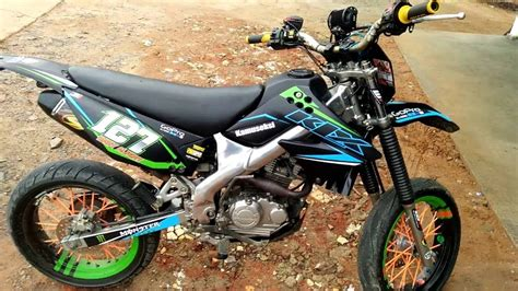 Modification Kawasaki Klx 250 by 90 Modifikasi Motor Trail Klx 250 Modifikasi Trail