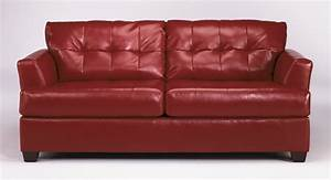 Buy ashley furniture 9460139 roeband durablend scarlet for Ashley sleeper sofa