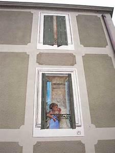 Trompe L Oeil Fenetre Exterieur : trompe l oeil deco peintre en decor languedoc roussillon fresque peinture murale toulouse ~ Melissatoandfro.com Idées de Décoration