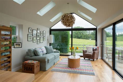 Living Room Extensions by Contemporary Cottage Extension Contemporary Living