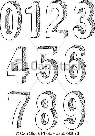 draw  numbers google search block lettering