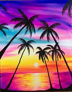 Easy Beach Painting | www.pixshark.com - Images Galleries ...
