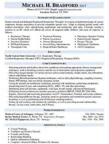respiratory therapy resumes exles resume sles types of resume formats exles and templates