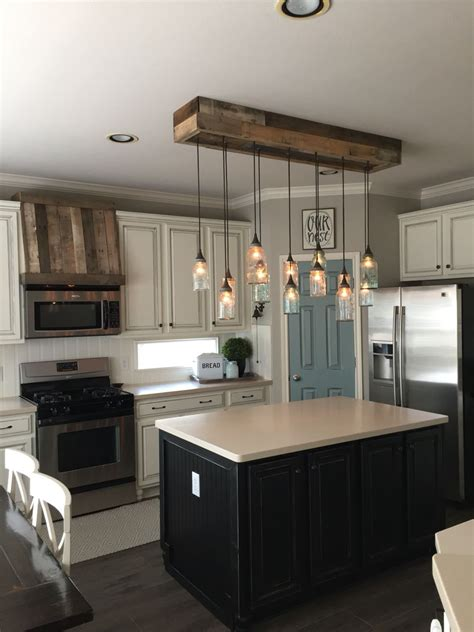 Kitchen Island Light Fixtures Ideas by Hi All Updated Pics Ourfauxfarmhouse On Ig Come Follow